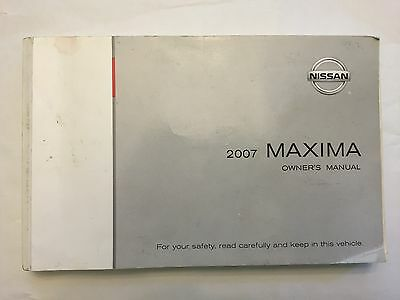 2007 Nissan Maxima Owners Manual Fast Free Shipping