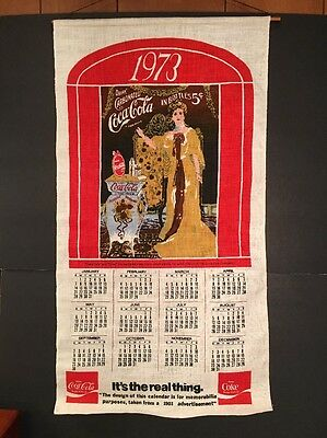 Vintage Coca Cola Linen 1973 Calendar New  Mint Discounted Shipping