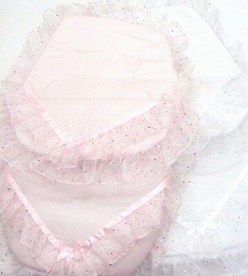 Stunning Sparkle Organza Romany Style 3 in 1 Cosy Toes Footmuff by Kinder