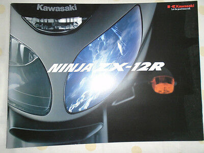 Kawasaki Ninja ZX-12R Motorcycle brochure 2000's ref 99949-1112 ALL-E 00-1