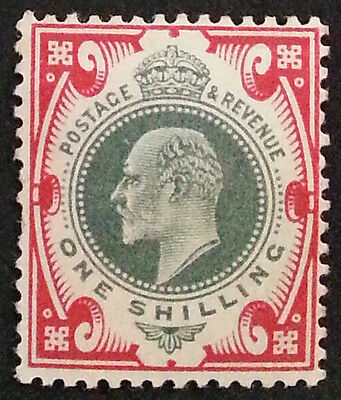 Sg257 - 1S Green & Carmine - Mounted Mint