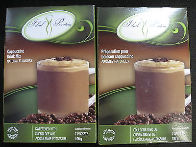 Ideal Protein  Cappuccino Drink Mix (2 Boxes Of 7 Packets)