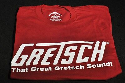"Gretsch ""that Great Gretsch Sound"" Tee Shirt X-Large Red"