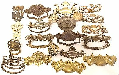 Vintage Lot of Random Drawer Pulls ~ Escutcheons ~ Knobs