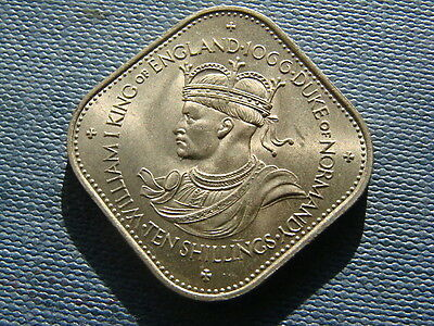 Guernsey Ten Shillings coin 1966. William Duke Of Normandy 1066 commemorative.