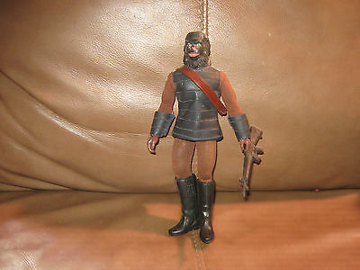 Planet of the Apes Mego Gorilla Soldier Black Head with bandolier and gun