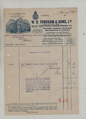 Illustrated  London  Sandpaper  Manufacturers  Invoice  &  Credit  Note.