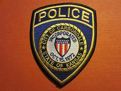 Collectible Kansas Police Patch Carbondale New