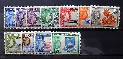 GILBERT & ELLICE ISLANDS 1956 to 5/- SG64-74 Mounted Mint FP8541