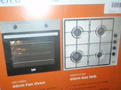 BEKO OSF21133SX 60cm ELECTRIC OVEN AND GAS HOB NEW BOXED.