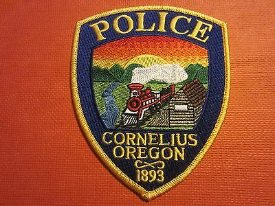 Collectible Oregon Police Patch Cornelius New  Nice Patch