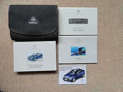Mercedes Benz C-Class Sports Coupe Owners, Audio & Service Handbooks & Wallet