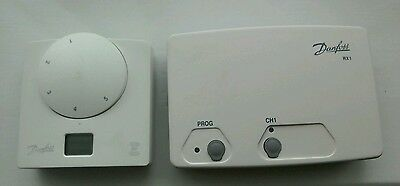 Danfoss Ret B-RF & RX1 Wireless Room Thermostat & Receiver