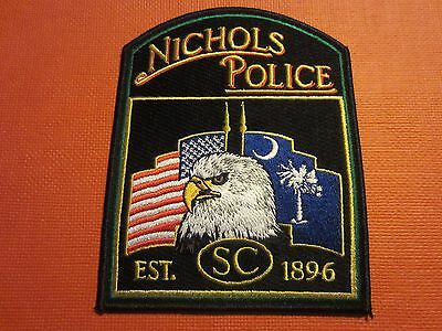 Collectible South Carolina Police Patch Nichols New
