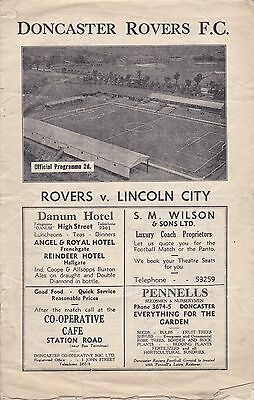 DONCASTER ROVERS v LINCOLN 1946/7,DIVISION 3 NORTH