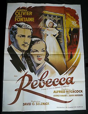 REBECCA French RR Cinema Poster ALFRED HITCHCOCK