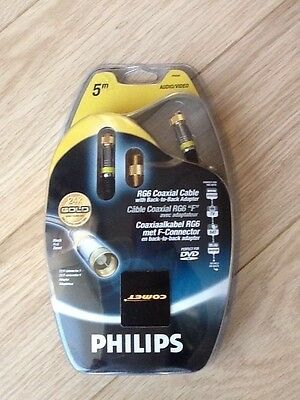 Phillips RG6 Coaxial Cable with back to back adapter