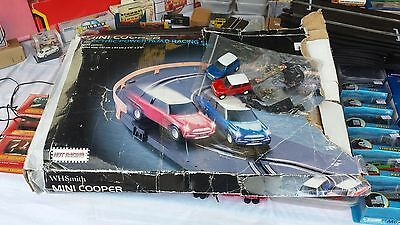 WHSmith Scalextric racing track with 2 Mini Cooper Cars boxed