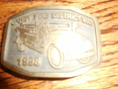 Canby Fire District  #62 Belt Buckle. 1998. Bronze.