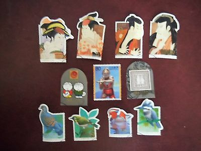 Collection USED Japanese LOT of stamps SINGLES JAPAN All different