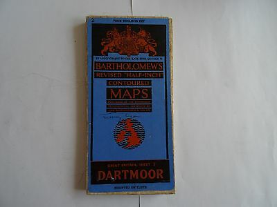 Bartholomew's Revised Half-Inch Contoured Map Sheet 2 Dartmoor - Cloth Mounted