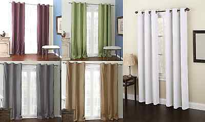 2 Panels Grommet Micro Window Curtain Drape Foam Lined Blackout Thermal K92 108""