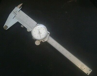 Mitutoyo vernier caliper with dial indicator