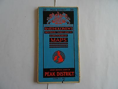 Bartholomew's Revised Half-Inch Contoured Map Sheet 29 Peak District (Cloth)