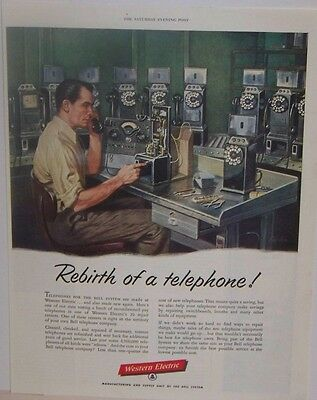 Original 1955 Bell Telephone Western Electric Magazine Ad