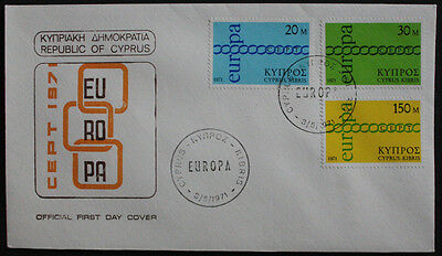 Cyprus 1971 Europa Illustrated Unaddressed First Day Cover