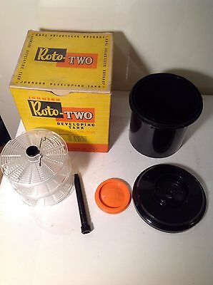 Vintage Boxed Johnson Roto-Two Developing Tank, 35mm 127 120 116 films