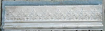 Antique Tin Ceiling Trim Molding Reclaimed From A Dance Hall **Bundle of 4**