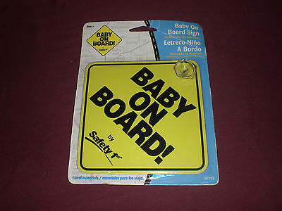 Safety 1st Baby On Board Sign Travel Essentials New Sealed