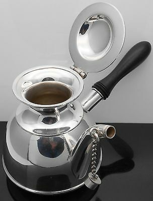 Unusual Hot Chocolate Pot - Mappin & Webb - Antique Silver Plated