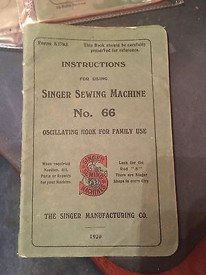 Vintage Instructions Singer Sewing Machines 66