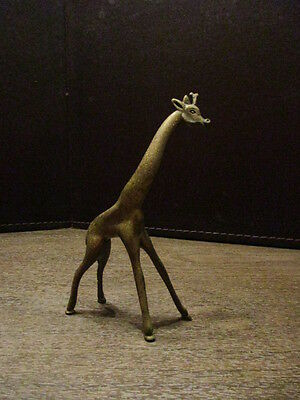 Decorative Metal - Brass Giraffe Figurine