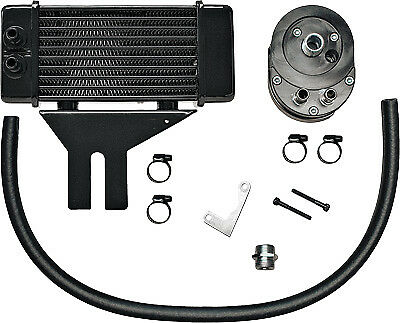 Jagg Oil Coolers 750-2500 Horizontal 10 Row Oil Cooler Black Low Mount