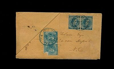 TWO PAIRS Confederate #7 Turned Cover - PETERSBURG & RANDOLPH-MACON COLLEGE VA