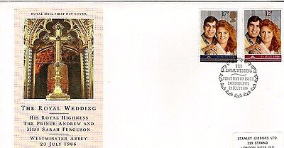 1986 Royal Wedding, Andrew & Sarah- Special Hand Stamp Fdc From Collection 3C/20