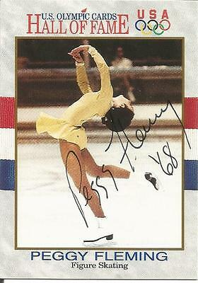 Peggy Fleming Autographed Card Olympic Figure Skating