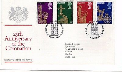 1978 25Th Anniversary Of The Coronation Fdc From Collection 4C/02
