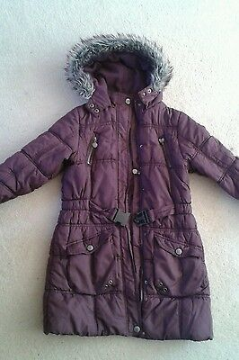Girls BHS Sweet Millie Purple Coat age 8 Years