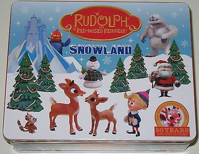Rudolph the Red-Nosed Reindeer Snowland Collector's Tin Craft Kit Set COMPLETE