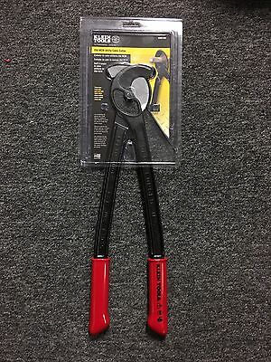 Klein Tools 14-3/4 in. Utility Cable Wire Bolt Cutters Hook Jaw Blade Hand Tool