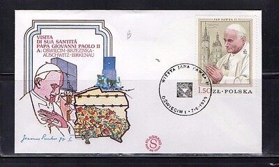 1979 Auschwitz Pope John Paul Ii Fdc  From Collection 4C/08