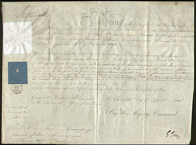 Queen Victoria (Great Britain) - Military Appointment Signed 04/12/1848