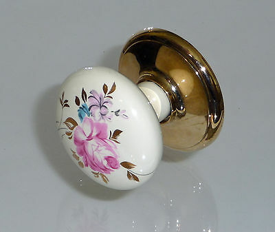 "Single Gainsborough Porcelain ""Dummy"" Knob - Balmoral - Flower Design"