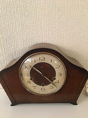 Magnificent Solid Oak Cased Smiths Westminster Chimes Clock