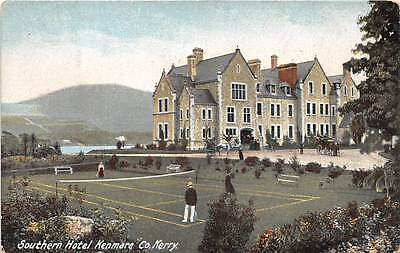KENMARE, COUNTY KERRY, IRELAND ~ SOUTHERN HOTEL & ITS TENNIS COURT ~ c. 1904-14