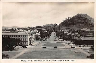BALBOA, CANAL ZONE, PANAMA, OVERVIEW FROM ADM BUILDING, REAL PHOTO PC c. 1930's